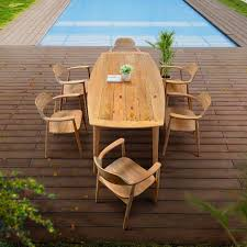 outdoor teak dining set lara table