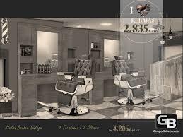 hair salon furniture set barber vine