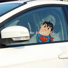 Car Styling Cartoon Superman Save The Earth With Wry Neck Car Body Stickers Car Decal For Toyota Vw Tesla Honda Hyundai Kia Lada For Toyota Car Decaldecals For Cars Aliexpress