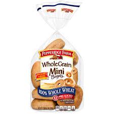 mini 100 whole wheat bagels