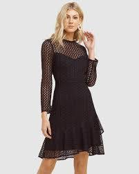 Priscilla Long Sleeve Ruffle Hem Dress by Cooper St Online | THE ICONIC |  Australia