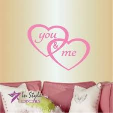Vinyl Decal You And Me Hearts Love Bedroom Living Room Decor Wall Sticker 427 Ebay