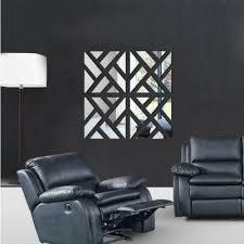 32pcs Removable 3d Mirror Acrylic Wall Sticker Diy Art Vinyl Decal Ho Wayfairlife