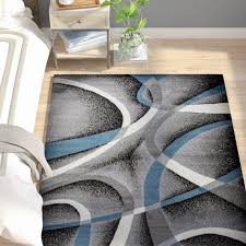 juelz abstract gray blue white area rug