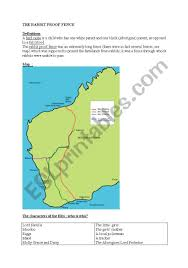 Australian Aborigines The Rabbit Proof Fence Esl Worksheet By Sophie85