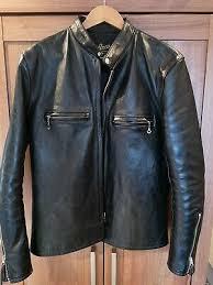 j100 buco leather biker jacket size 40