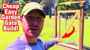 How To Build A Garden Gate With Threshold Easy And Inexpensive Youtube