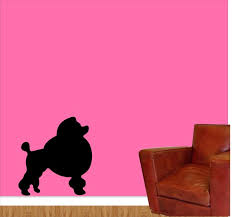 Poodle Wall Decal Vinyl Sticker Poodle Baseboard Wall Vinyl Etsy