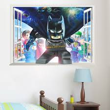 Dc Cartoon Hero Batman Wall Stickers For Kids Room Bedroom Accessories Pvc Posters Mural Art Boy S Gift Wallpaper Home Decor Wall Stickers Aliexpress