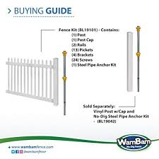 Wambam Fence Bl19101 Nantucket Picket Vi Buy Online In Fiji At Desertcart