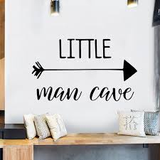 Little Man Cave Wall Decals Nursery Wall Quote Words Kids Baby Boy Room Decor Wall Sticker Adesivo De Parede Arrows Wall Papers Wall Stickers Aliexpress
