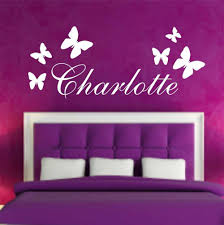 Personalised Butterfly Any Name Vinyl Wall Sticker Art Decal Kids Bedroom Wall Decals Wall Stickers For Kids Room Mural D612 Sticker For Kids Room Vinyl Wall Stickerswall Stickers For Kids Aliexpress
