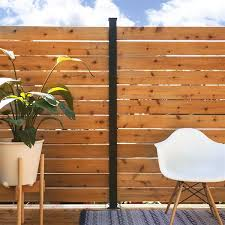 Hoft Solutions 3 In X 72 In Black Aluminum Fence Post Lowe S Canada