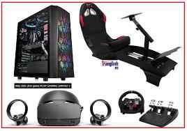 Bộ máy tính chơi Game đua xe F1 - PCAP VR Racing Simulator - Cabin lái xe  F1 thực tế ảo VR Racing SIM Pro