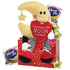 love you to the moon gift basket with