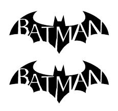 2 Batman Symbol Arkham City Asylum Gotham Vinyl Decals Car Laptop Stic Kandy Vinyl Shop