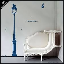 Paris Wall Decal Discount Old Fashion Street Lamp With Etsy