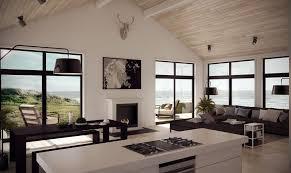small modern farmhouse with three