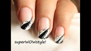nail designs black french tip heser