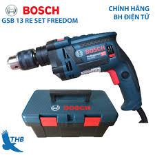 Mua Bộ máy khoan gia đình Bosch GSB 13 RE SET FREEDOM Hộp nhựa Bảo hành điện  tử 12 tháng Xuất xứ Malaysia giá rẻ 1.850.000₫