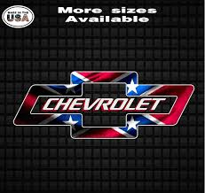 Chevy Bowtie Rebel Flag Confederate Flag Vinyl Decal Sticker Chevy Truck Decals Country Boy Customs Store