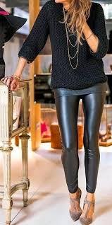styling black leather skinny pants