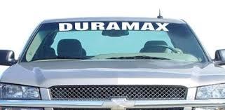 Chevy Duramax Windshield Banner Decal Sticker Custom Sticker Shop