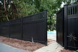 Illusions Black Vinyl Pvc Privacy Matte Finish Fencing Panels 3 Fence Design Vinyl Fence Vinyl Fence Panels