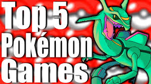 Top 5 Best Pokemon Games of All Time! - YouTube