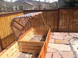 cold frame on raised garden bed boxes