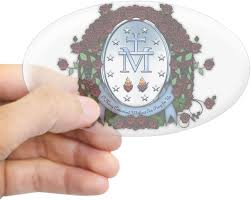 Amazon Com Cafepress Miraculous Medal 2 Sticker Oval Bumper Sticker Euro Oval Car Decal Home Kitchen