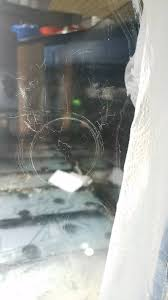 removing scratches from starphire glass
