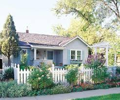 Front Yard Flower Power Front Yard Front Garden White Picket Fence House