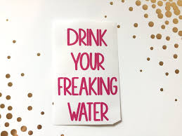 Drink Your Freaking Water Vinyl Decal Happy Tuesday Boutique
