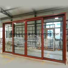 china solid wood aluminum door with