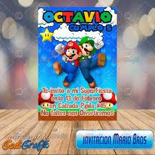 Invitacion Para Fiestas Infantiles Mario Bros 80 00 En Mercado