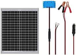 Amazon Com Hqst 20w 12v Off Grid Solar Panel Kit 12v Solar Battery Charger Suitable For Camping Fan Auto Gate Opener Electric Fence Chicken Coop Marine Rv Garden Outdoor