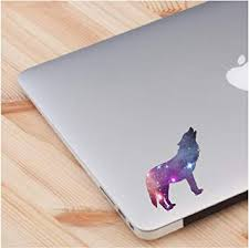 Amazon Com Cosmic Wolf Spirit Animal Laptop Decal Love Skin Laptop Sticker Quote Decals Computer Vinyl Sticker 2 Ina A Pack Computers Accessories