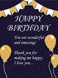 happy birthday wishes card for