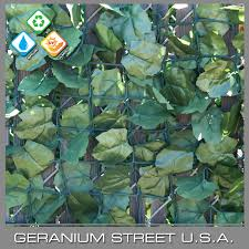 Artificial Ivy Fence Roll Double Sided Geranium Street