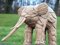 standing asian african elephant garden