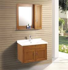 bathroom cabinet solid wood material