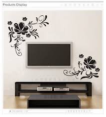 Black Color Flower Vine Wall Stickers Vinyl Diy Flower Vine Wall Decals For Living Room Bedroom Tv Background Wall Home Decor Wall Decals Home Decorwall Sticker Aliexpress