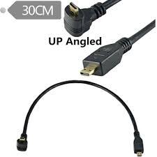 Micro HDMI Lên/Xuống Uốn Cong Cáp Chuyển Đổi Micro HDMI To HDMI Cho Máy Ảnh  Kỹ Thuật Số Và Điện Thoại Di Động Và Máy Tính Bảng|