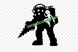 Bioshock Big Daddy And Little Sister Decal Sticker Bioshock Png Stunning Free Transparent Png Clipart Images Free Download