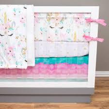 girl crib bedding unicorn nursery set