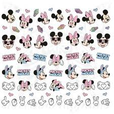 Mickey Minnie Mouse Nails Ice Cream Water Decals