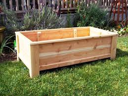 custom simple diy outdoor wood planter