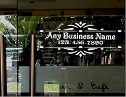 Amazon Com Stickerloaf Brand Store Name Custom Window Decal Business Shop Storefront Door Sign Decal Law Firm Doctors Office Cafe Deli Restaurant Salon Hair Nail Boutique Everything Else