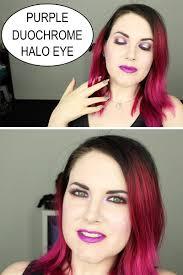 purple duochrome halo eye makeup